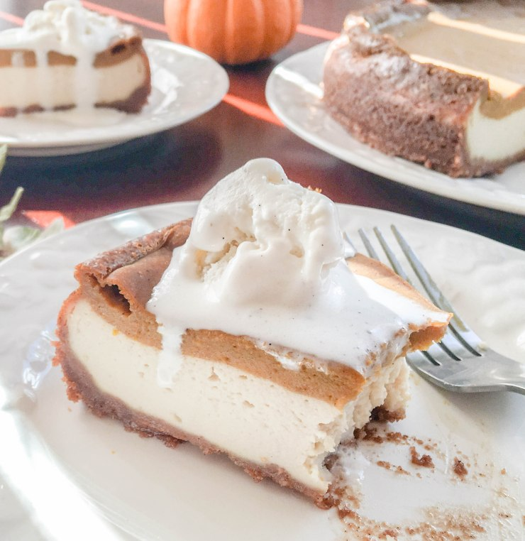 pumpkin cheesecake slice 2